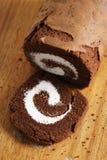 Het Broodje van de chocoladecake Stock Foto's