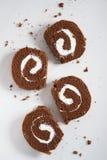 Het Broodje van de chocoladecake Royalty-vrije Stock Foto