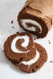Het Broodje van de chocoladecake Royalty-vrije Stock Foto's