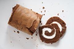 Het Broodje van de chocoladecake Royalty-vrije Stock Fotografie
