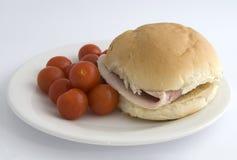 Het broodje van de ham Royalty-vrije Stock Foto