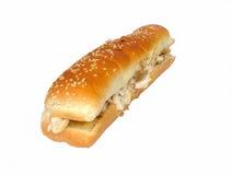 Het broodje van de kip stock afbeeldingen