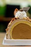 Het broodje van de roomijscake Royalty-vrije Stock Fotografie