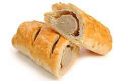 Het broodje van de worst Royalty-vrije Stock Afbeeldingen