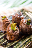 Het broodje van het lapje vlees Stock Foto's