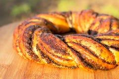 Het broodje van het papaverzaad royalty-vrije stock foto's