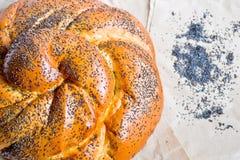 Het broodje van papaverzaden Stock Afbeeldingen