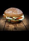 Het Broodje van Pesto van de kippensalade Royalty-vrije Stock Foto