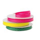 Het broodje van polkadot ribbon Royalty-vrije Stock Afbeeldingen