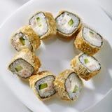 Het Broodje van Tempurasushi Stock Afbeeldingen