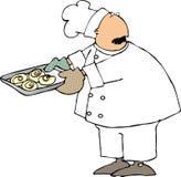 Het broodjeschef-kok van de kaneel vector illustratie