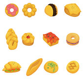 Het broodpictogram van het beeldverhaal Stock Foto's