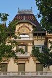 Het brothersâ huis Lumiere in Lyon (Frankrijk) royalty-vrije stock foto