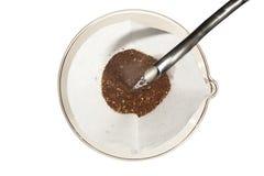 Het brouwen giet over Koffie stock afbeelding
