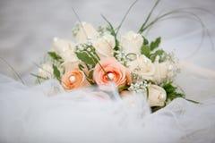 Het bruid` s boeket stock afbeeldingen
