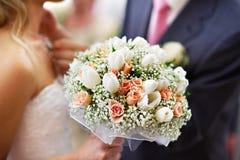 Het bruids boeket van het huwelijk Stock Foto's