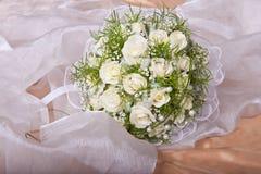 Het bruids boeket van het huwelijk Stock Foto