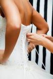 Het bruids korset van het kant Royalty-vrije Stock Afbeelding