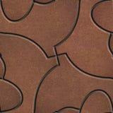 Het bruine Bedekken in de vorm van Vissen royalty-vrije stock foto