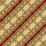 Het bruine Behang van het Batikpatroon Royalty-vrije Stock Afbeelding