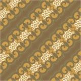 Het bruine Behang van het Batikpatroon Royalty-vrije Stock Foto's