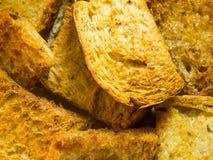Het bruine brood snijdt Boter en Sugar Crisp royalty-vrije stock foto