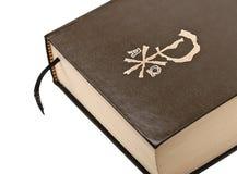 Het bruine detail van de dekkingsbijbel Royalty-vrije Stock Fotografie