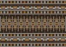 Het bruine en oranje patroon van de zijdedoek Royalty-vrije Stock Foto
