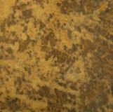 Het bruine Gebarsten Zuur waste de Bruine Textuur van de Leerdruk Stock Afbeelding