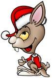 Het bruine Konijn van de Kerstman Royalty-vrije Stock Foto