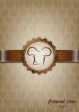 Het bruine ontwerp van het restaurantmenu Royalty-vrije Stock Afbeeldingen