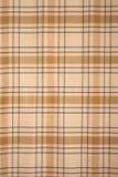 Het bruine patroon van het tafelkleedgeruite schots wollen stof Royalty-vrije Stock Afbeelding
