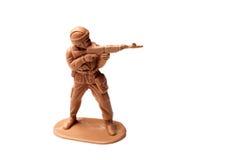 Het bruine stuk speelgoed van de legermens Stock Foto's