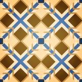 Het bruine Vierkante Naadloze Patroon van het Mozaïek Royalty-vrije Stock Afbeeldingen