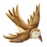 Het bruine vogel vliegen