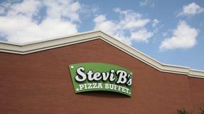 Het Buffet van de Stevib ` s Pizza stock foto's