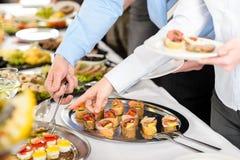 Het buffet van snacks op bedrijfvergadering Royalty-vrije Stock Fotografie
