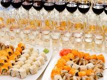 Het buffet van sushi Stock Afbeelding