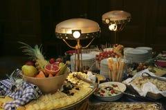 Het buffetreeks van het restaurant Royalty-vrije Stock Afbeeldingen