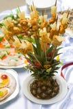 Het buffetstijl van de catering - ananas Royalty-vrije Stock Afbeeldingen