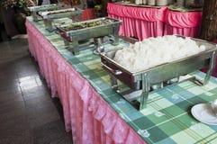Het buffetstijl van Thailand. Royalty-vrije Stock Foto