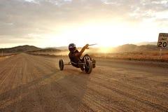 Het buggying van de Vlieger van de woestijn Stock Fotografie