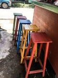 Het Buidingsontwerp zit kleurrijke stijl Thailand voor Stock Afbeelding