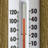 Het is buiten een zeer hete dag Royalty-vrije Stock Afbeelding