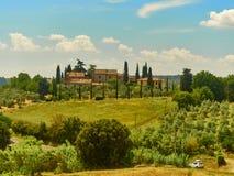 Het buitenhuis van Toscanië Royalty-vrije Stock Afbeeldingen