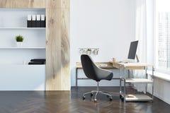 Het bureau binnenlands zijaanzicht van de bedrijfleider Stock Fotografie