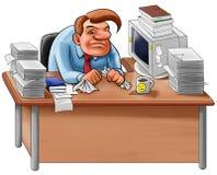 Het bureau in knoeit Stock Afbeeldingen