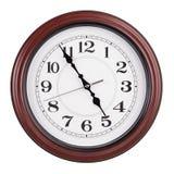 Het bureau toont 24 uur op 24 uur bijna vijf uren Royalty-vrije Stock Fotografie