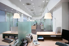 Het bureau van de bank Royalty-vrije Stock Foto's