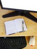 Het bureau van de computer Stock Afbeeldingen